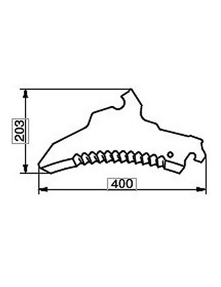 Cuchilla Adaptable para Carro Picador Autocargador Pottinger