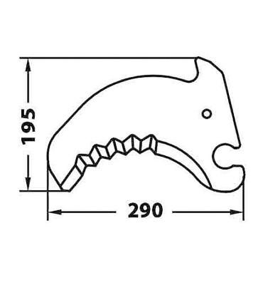 290 x 195 mm Espesor 5 mm