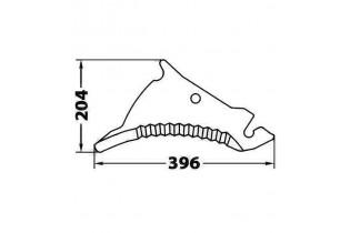 Cuchilla Adaptable para Empacadora y Rotoempacadora Kuhn